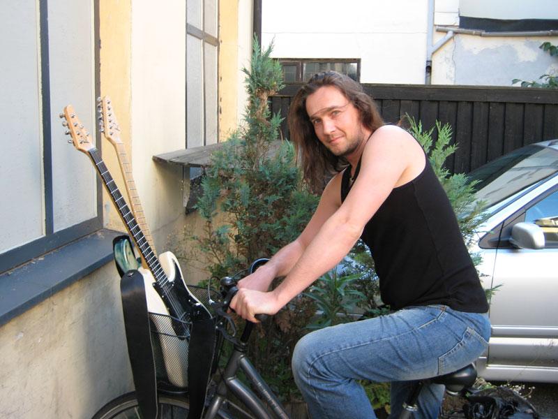 Kasper Damgaard with guitars